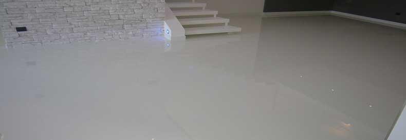 White Epoxy Flooring